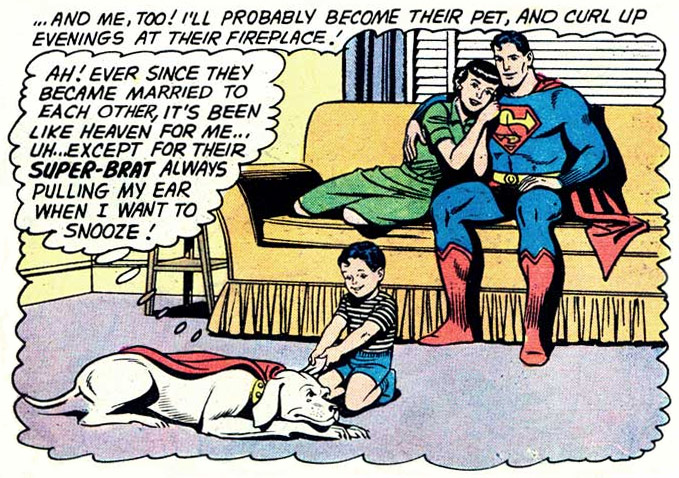 Krypto's fantasy, in Superman #141 (January 1961)