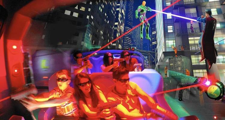 Six Flags Introduces Justice League: Battle for Metropolis 4D Ride