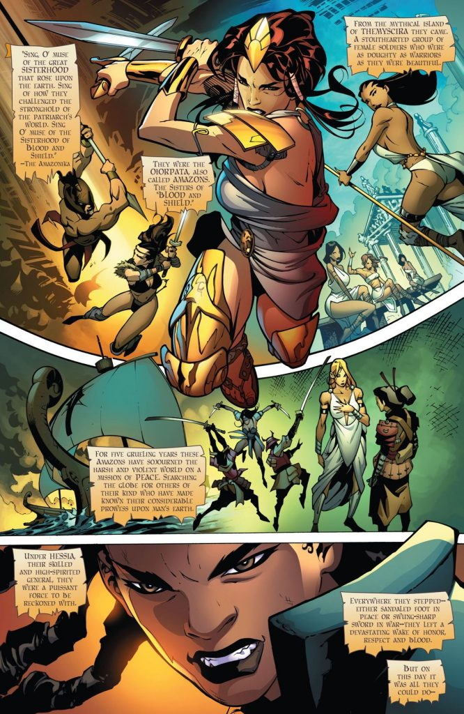 Odyssey Of The Amazons #1 comic book review