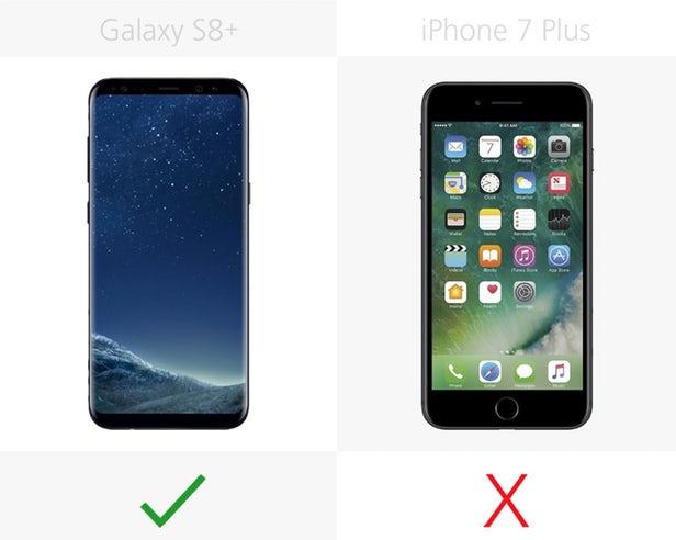 s8 vs iphone 7