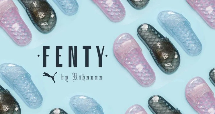 Rihanna Drops the Jelly Slide from the Fenty X Puma Collection