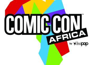 Comic Con Africa 2019 Logo - ReedPOP (white)