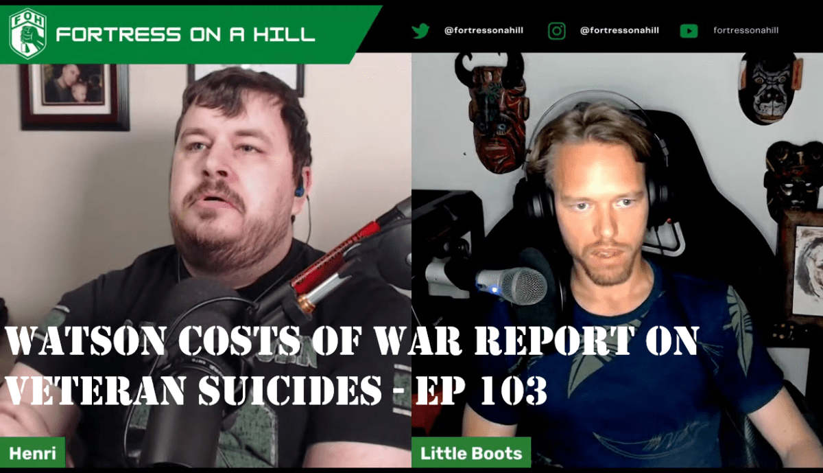 Watson Institute report on active duty and veteran suicides – Ep 103