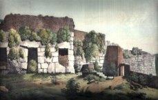 Le 3 nicchie all'esterno dell'Acropoli