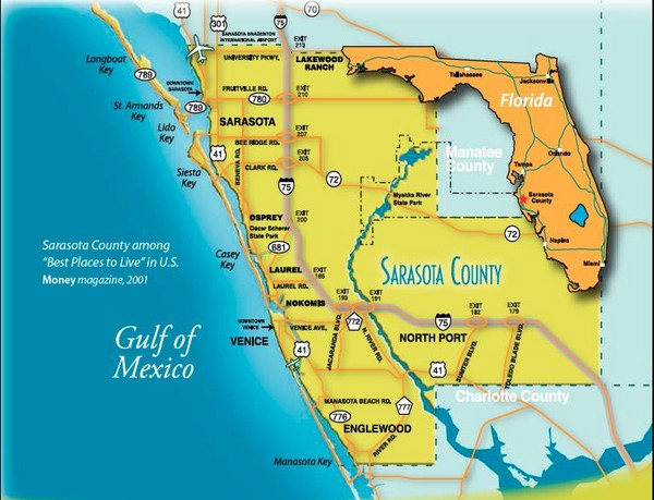 North Sarasota Wildlife Control and Removal, Map of Gulf Gate Estates, University Parkway