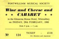 Wine & Cheese Cabaret ticket