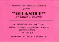 Iolanthe ticket