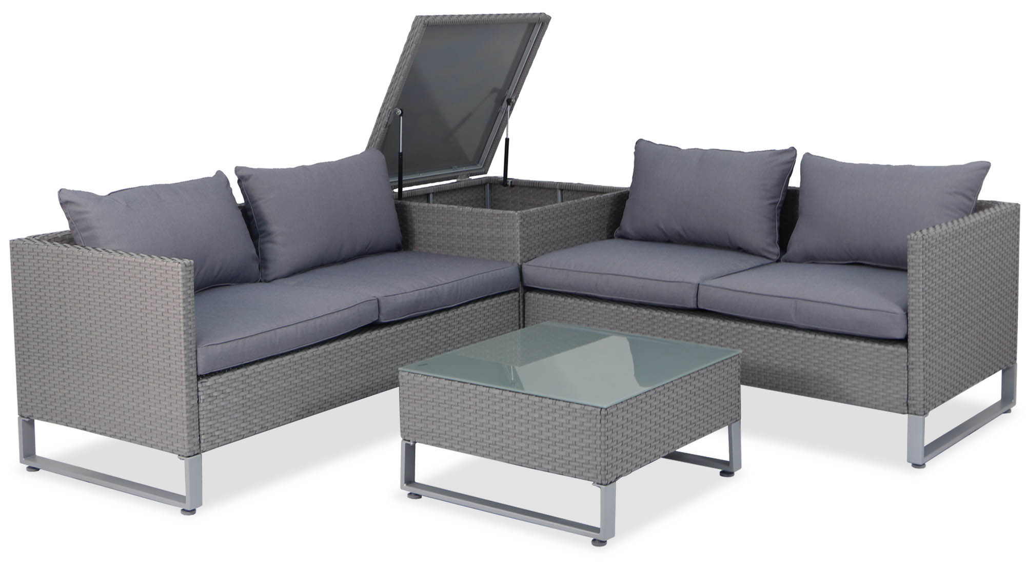 Royal Synthetic Rattan Outdoor Sofa Set with Storage Box ... on Outdoor Loveseat Sets  id=93287