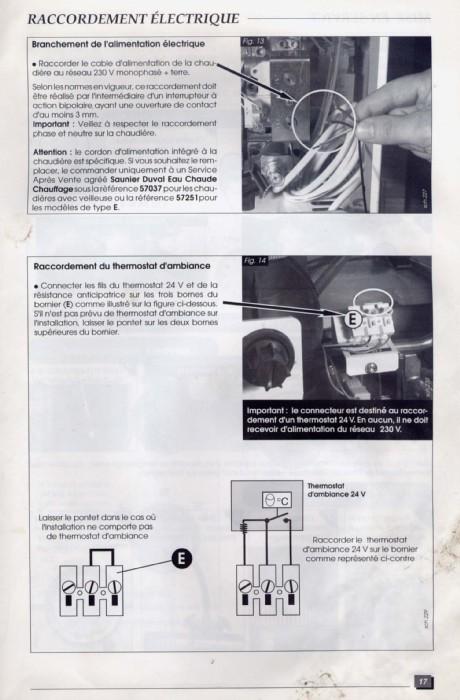 Brancher Thermostat D Ambiance Chaudiere Saunier Duval Thema C23 Pas De 24v Conseils Branchement Ta