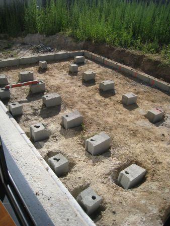 terrasse bois terrasse sur plots beton