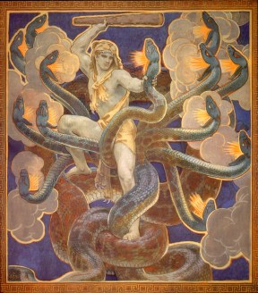 John Singer Sargent painting of Hercules and the Hydra