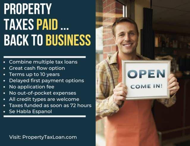 وام بدهی به مشاغل کوچک تگزاس کمک می کند تا مالیات املاک را پرداخت کنند تا بتوانند ...