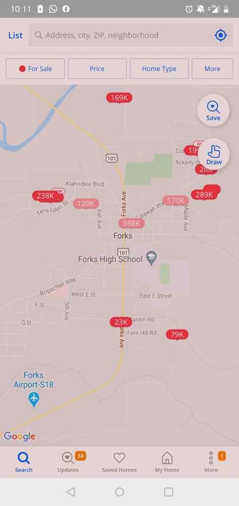 """כך נראה שוק הנדל""""ן במזלגות, וושינגטון. שעה נסיעה מהפארק הלאומי אולימפיק. המלוניו..."""