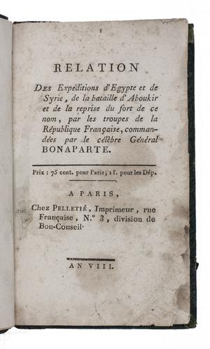 accounts of napoleon s campaign in egypt