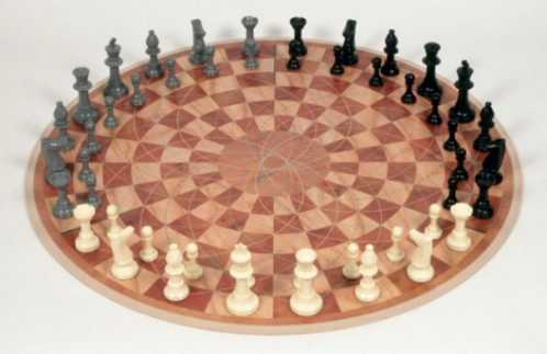 three player chess board