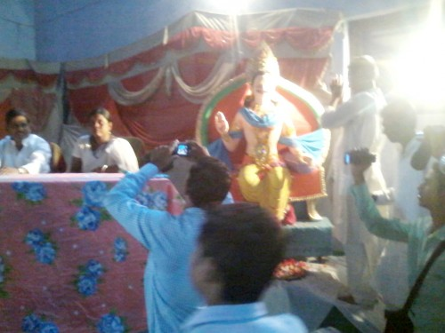Sattue of Mahishasura in Nawada