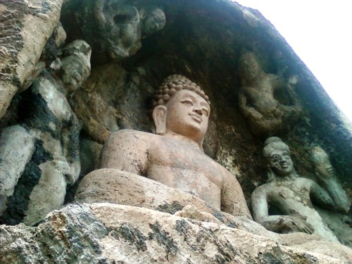Rock-cut_Lord_--Buddha--_Statue_at_Bojjanakonda_near_Anakapalle_of_Visakhapatnam_dist_in_AP 555