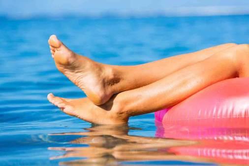 Met mooie voeten naar het strand
