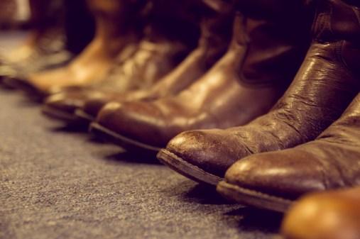 De cowboylaarzen van Janine