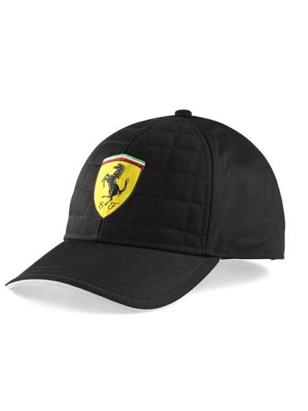 Šiltovka Scuderia Ferrari Quilt Stiched Čierna