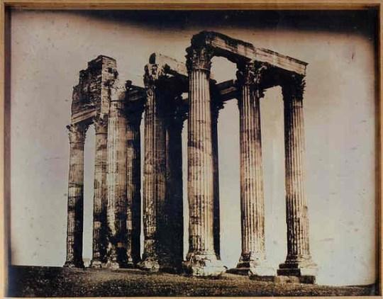 Joseph-Philibert Girault de Prangey, 113.Athènes, T[emple] de J[upiter] olympien pris de l'est (1842)