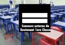 Les candidats admissibles au concours externe de lieutenant de 1er classe