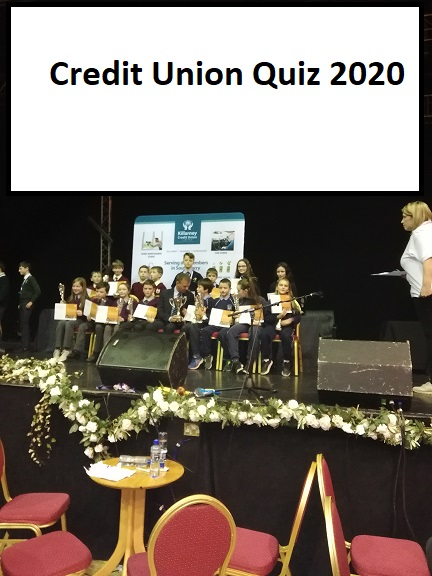 Credit Union Quiz winners 2020