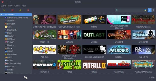 Linux için Lutris Oyun Platformu