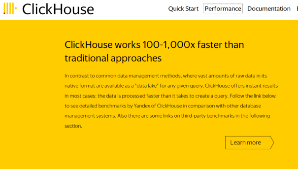 ClickHouse - Sistema de Gerenciamento de Banco de Dados