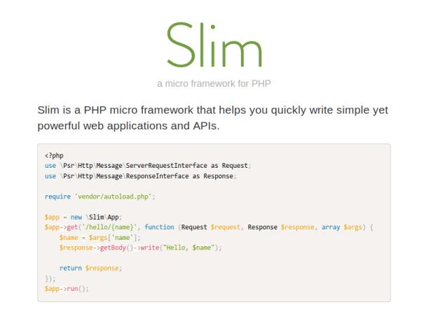 Slim-Framework - PHP Micro Framework