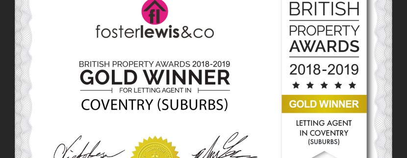 British Property Lettings Award for Coventry
