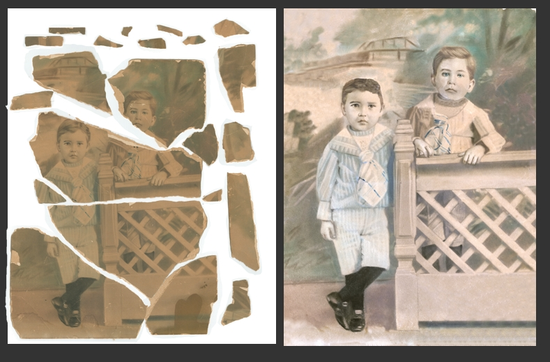 Restoration of an old photograph