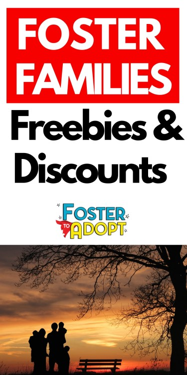 Foster Families Freebies & Discounts! Find money saving offers! A special thank you to foster parents! #fostertoadopt #fostercare #adoption #momlife