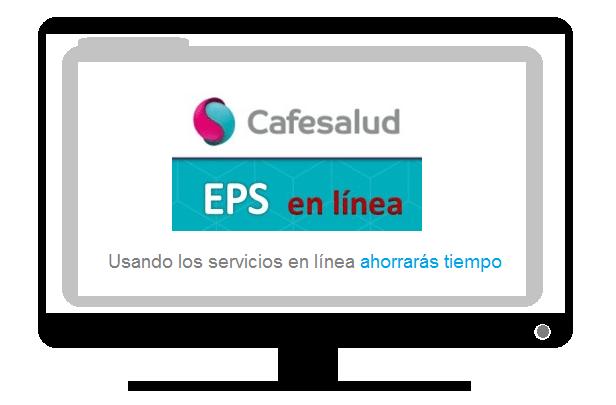 Computador en línea con el portal citas cafesalud