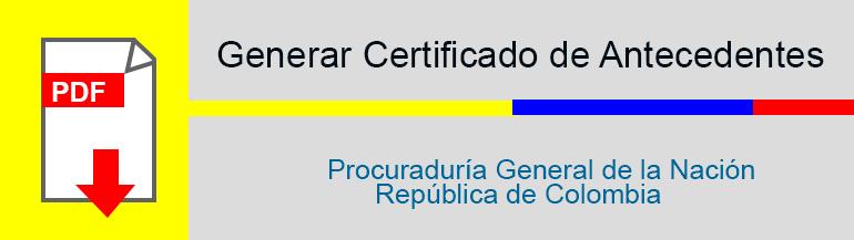 Generar Certificado de Antecedentes Procuraduría General de la Nación