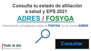 Consulta afiliación eps en fosyga ahora adres