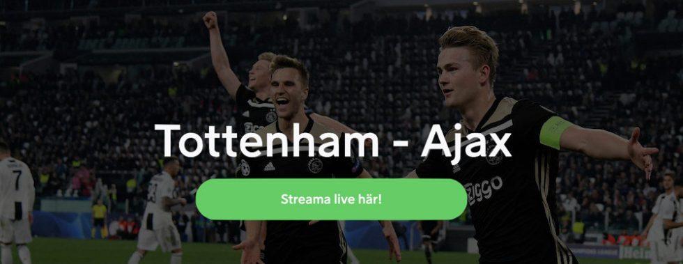 Tottenham Ajax live stream free