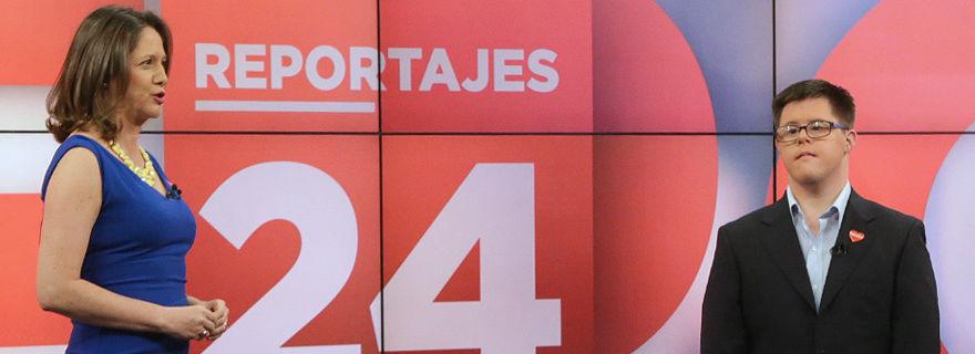 ¿Quién es el joven que acompañó a Mónica Pérez en el noticiero central de TVN?