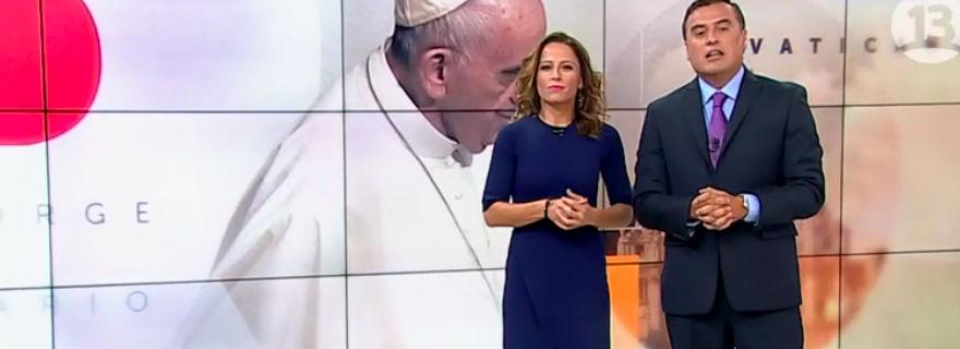 """Cony Santa María se llevó todos los elogios por conducir """"T13"""" después de viajar con el Papa Francisco"""