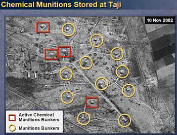 Aerial photo of Iraqi chemical munitions facility