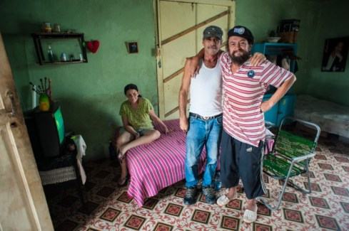three friends who share a one room home