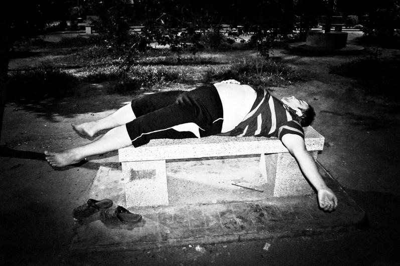 Drunk university student