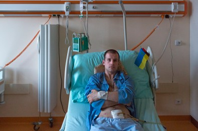 On Feb 20, Vasil Galamay was hit in the hop by a sniper's bullet. He lost three litres of blood as a result of the bullet damaging his bladder and was rushed to a medical facility in the Czech Republic in critical condition.