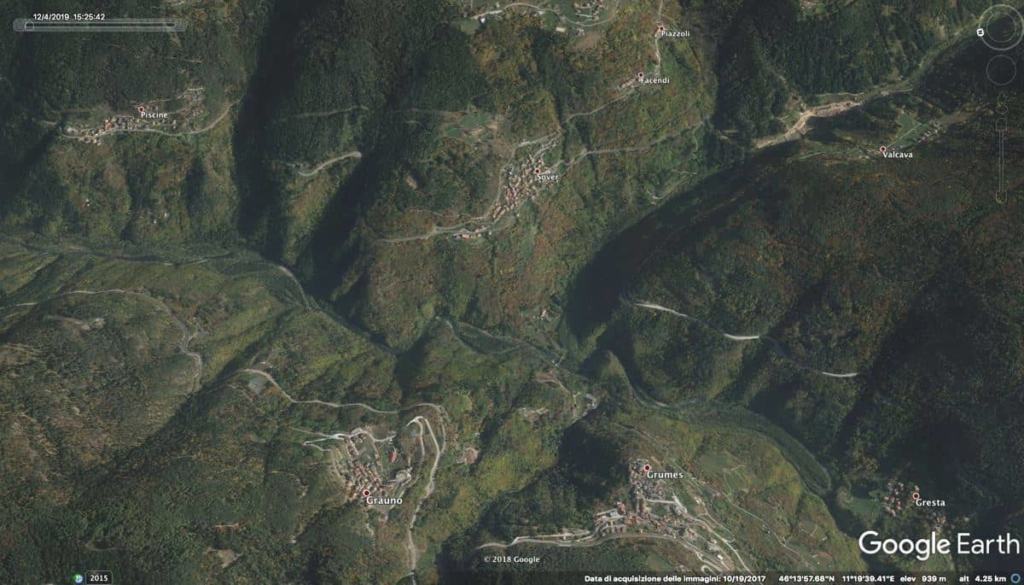 Val di Cembra con Google Earth