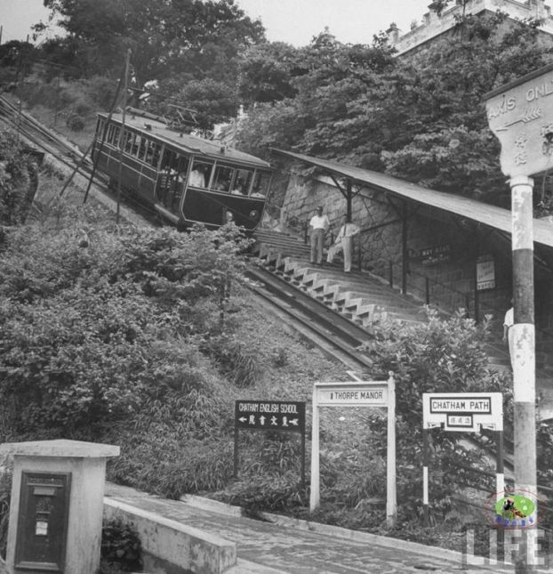 I remember tourists looking at us when we used to clamber off the Peak Tram at May Road to head towards the LRC :)