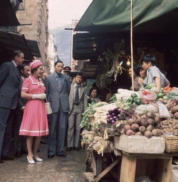 The Queen visiting HK in 1975.