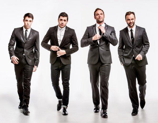 拍攝一群男生的範例,留意他們的手部動作。 (Model: The Cast of Fat Tony/image courtesy Nine Network Australia)