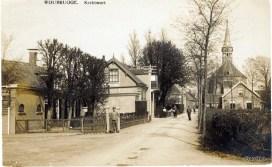 Kerkstraat Woubrugge.Handel in rijwielenG Verweij.