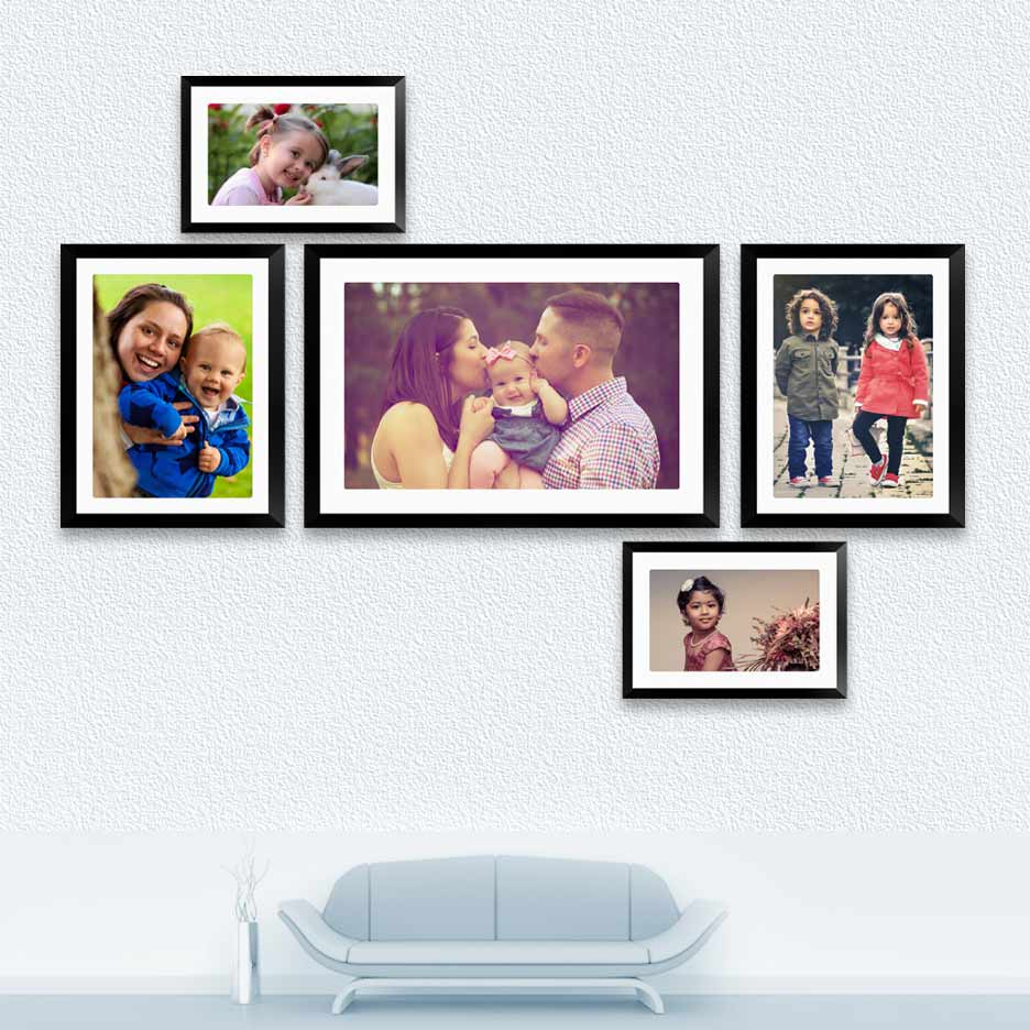 Collage frame with print archives fotoclipper 5 piece collage frame set jeuxipadfo Image collections