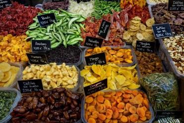 Trockenfrüchte Markt in Malaga